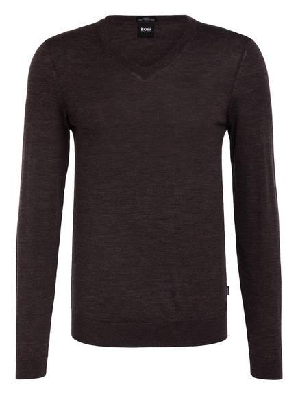BOSS Pullover MELBA-P, Farbe: DUNKELGRAU/ BRAUN (Bild 1)