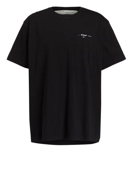 OFF-WHITE T-Shirt mit Rückenprint, Farbe: SCHWARZ (Bild 1)