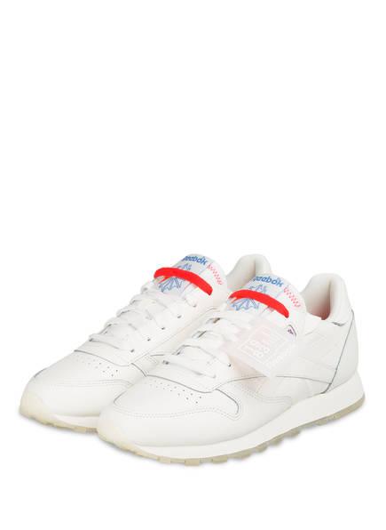 Reebok Sneaker CLASSIC LEATHER, Farbe: WEISS/ ROT (Bild 1)