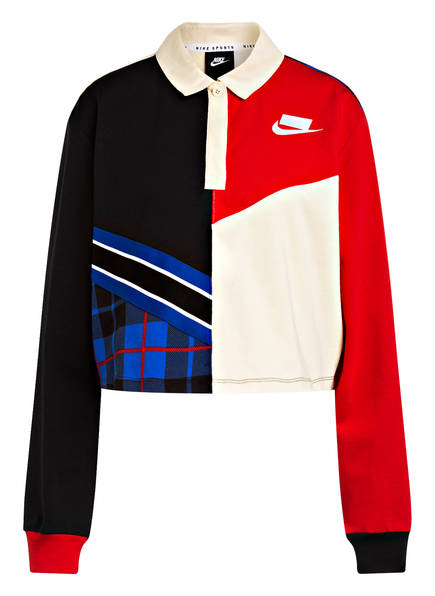 Nike Sweatshirt NSP RUGBY, Farbe: SCHWARZ/ ROT/ ECRU (Bild 1)