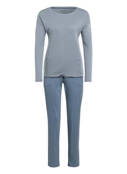 Marc O'Polo Schlafanzug, Farbe: BLAUGRAU/ WEISS (Bild 1)