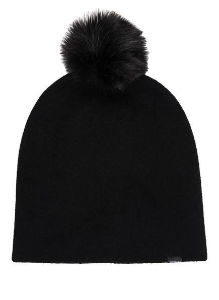 MARCCAIN Mütze mit Kunstpelzbommel, Farbe: 900 BLACK (Bild 1)