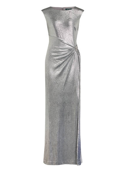 LAUREN RALPH LAUREN Abendkleid ILIANNE, Farbe: SILBER (Bild 1)