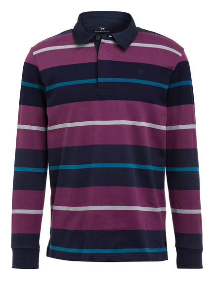 STROKESMAN'S Poloshirt , Farbe: DUNKELBLAU/ LILA/ GRAU GESTREIFT (Bild 1)