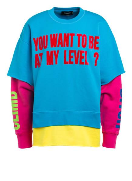 DSQUARED2 Sweatshirt, Farbe: BLAU/ GELB/ PINK (Bild 1)