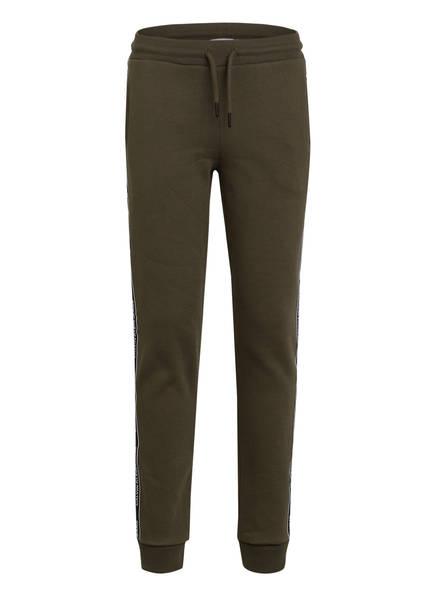 Calvin Klein Sweatpants mit Galonstreifen, Farbe: OLIV (Bild 1)