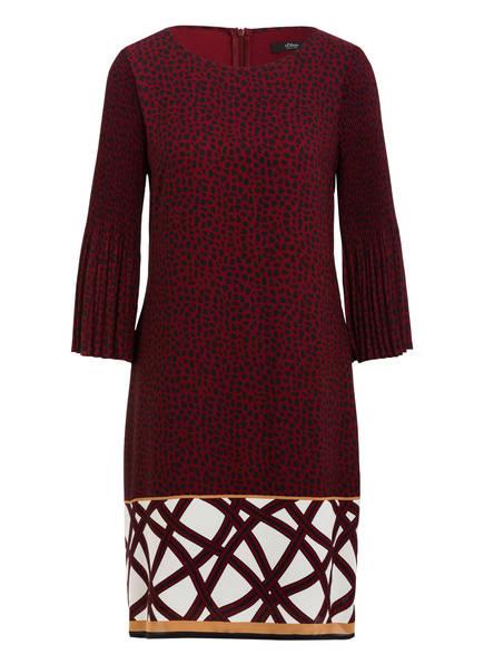 s.Oliver BLACK LABEL Kleid, Farbe: DUNKELROT/ SCHWARZ (Bild 1)