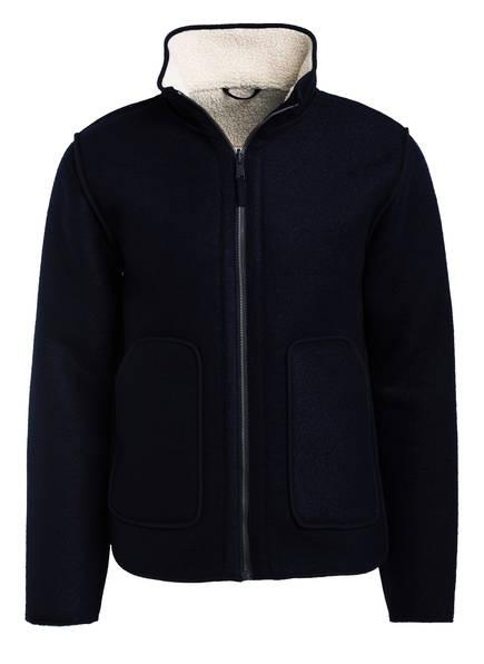 DSTREZZED 2-in-1-Teddyfell-Jacke, Farbe: DUNKELBLAU (Bild 1)