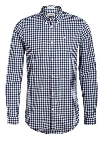 TOMMY JEANS Hemd Slim Fit, Farbe: WEISS/ DUNKELBLAU KARIERT (Bild 1)