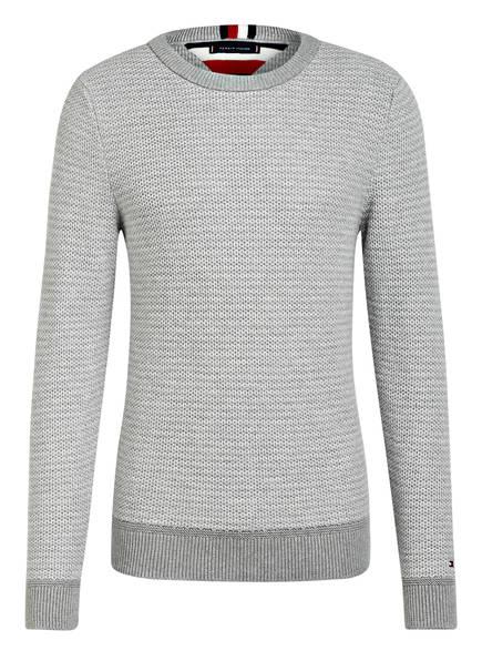 TOMMY HILFIGER Pullover HONEYCOMB, Farbe: HELLGRAU (Bild 1)