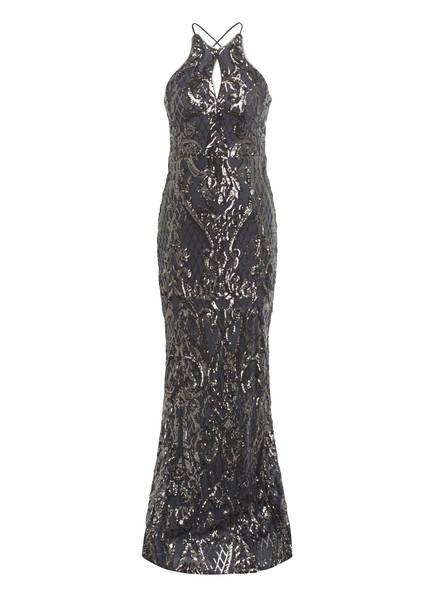 FOREVER UNIQUE Kleid mit Paillettenbesatz , Farbe: DUNKELGRAU (Bild 1)