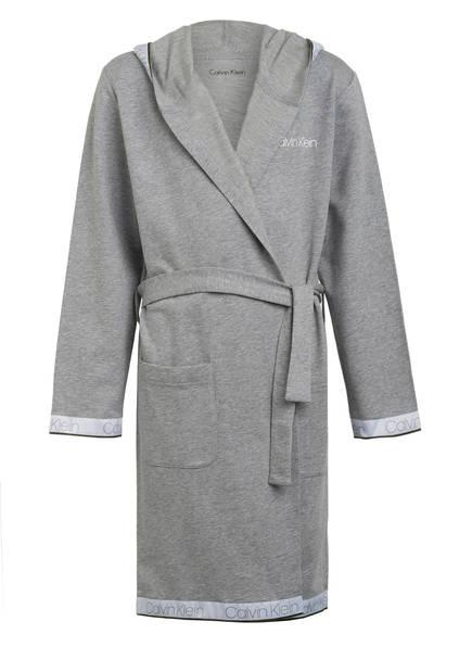 Calvin Klein Morgenmantel mit Kapuze, Farbe: HELLGRAU MELIERT (Bild 1)