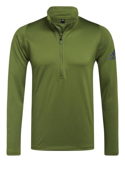 adidas Langarmshirt FREELIFT CLIMAWARM, Farbe: GRÜN (Bild 1)