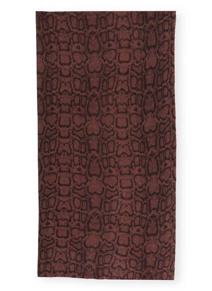 REPEAT Cashmere-Schal , Farbe: DUNKELROT/ DUNKELBRAUN (Bild 1)