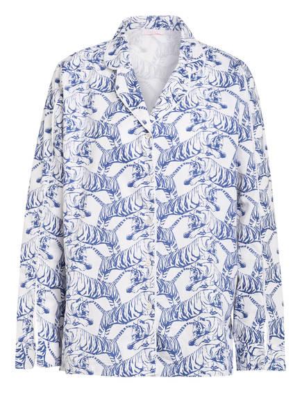 lulu's DRAWER Schlafshirt, Farbe: WEISS/ BLAU (Bild 1)
