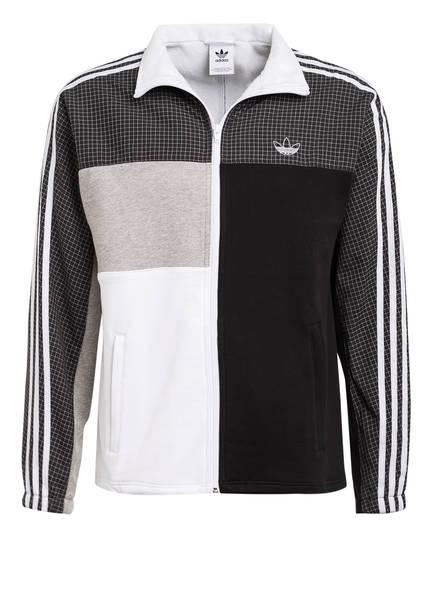 adidas Originals Sweatjacke ASYMM FULL ZIP, Farbe: SCHWARZ/ GRAU/ WEISS (Bild 1)