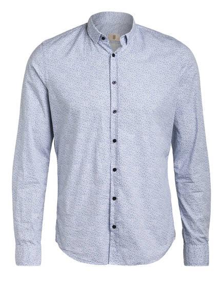 Q1 Manufaktur Hemd SANDRO Slim Fit, Farbe: BLAU/ WEISS (Bild 1)