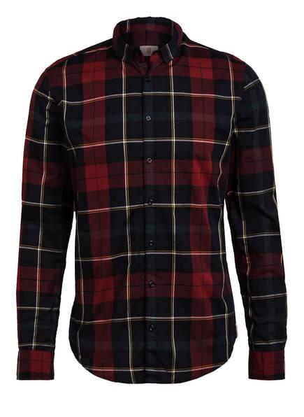 Q1 Manufaktur Hemd Extra Slim Fit , Farbe: DUNKELROT/ DUNKELGRÜN KARIERT (Bild 1)