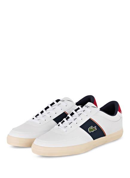 LACOSTE Sneaker COURT-MASTER , Farbe: WEISS/ DUNKELBLAU (Bild 1)