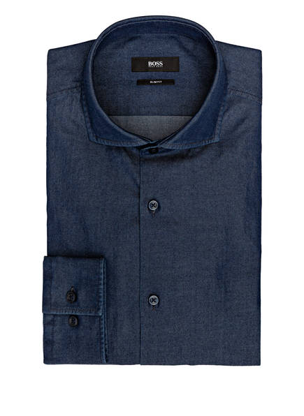 BOSS Hemd JASON Slim Fit, Farbe: DUNKELBLAU (Bild 1)