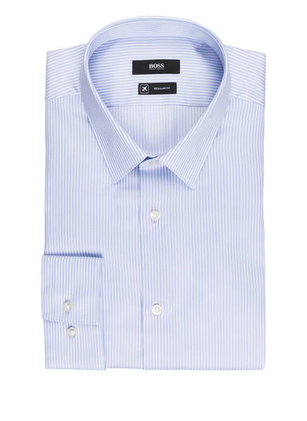 BOSS Hemd ELIOTT Regular Fit, Farbe: HELLBLAU/ WEISS GESTREIFT (Bild 1)