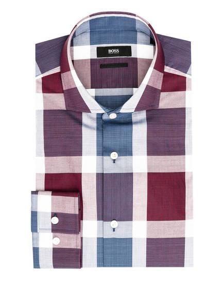 BOSS Hemd JASON Slim Fit, Farbe: WEISS/ PETROL/ DUNKELROT (Bild 1)