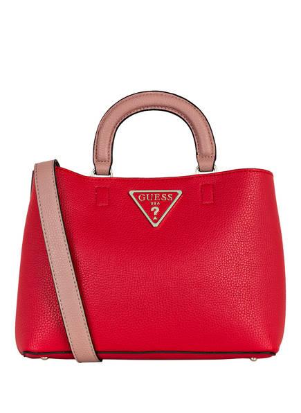 28% Sale Guess Handtasche Aretha Girlfriend Satchel rot