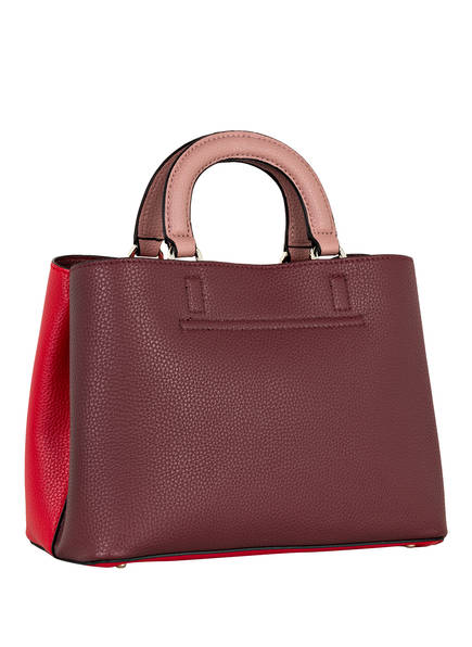 28% Sale Guess Handtasche Aretha Girlfriend Satchel rot