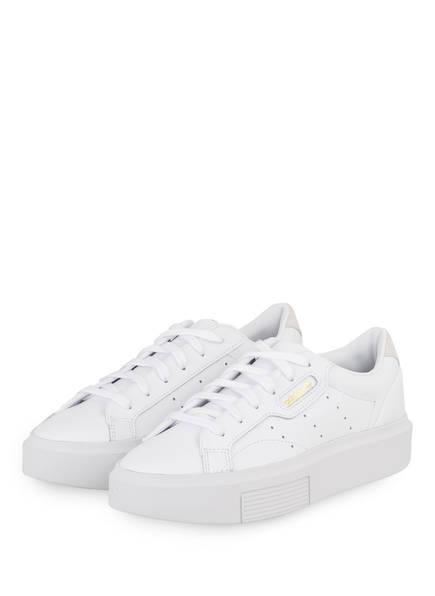 adidas Originals Plateau-Sneaker SLEEK SUPER, Farbe: WEISS (Bild 1)
