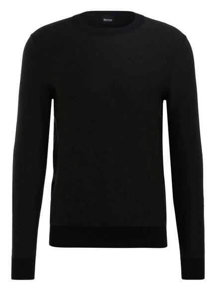 BOSS Pullover AKANICOS, Farbe: DUNKELGRÜN/ DUNKELBLAU (Bild 1)