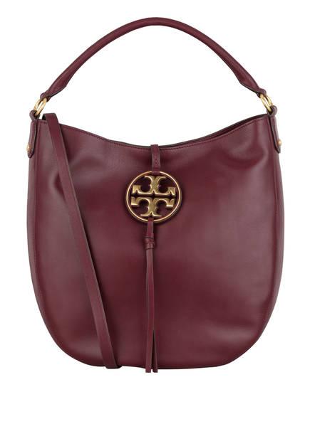 TORY BURCH Handtasche MILLER METAL LOGO, Farbe: DUNKELROT (Bild 1)