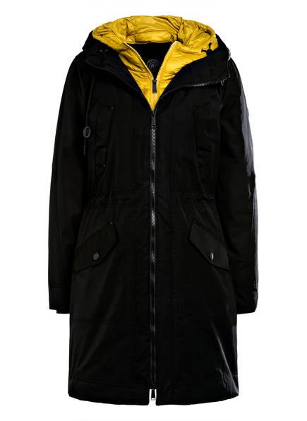 RESET Outdoor-Mantel VIVIENNE, Farbe: SCHWARZ/ DUNKELGELB (Bild 1)