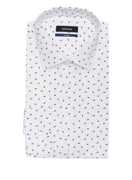 seidensticker Hemd Tailored Fit, Farbe: WEISS/ DUNKELROT/ DUNKELBLAU (Bild 1)