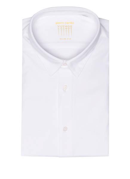 pierre cardin Jersey-Hemd VOYAGE Slim Fit, Farbe: WEISS (Bild 1)