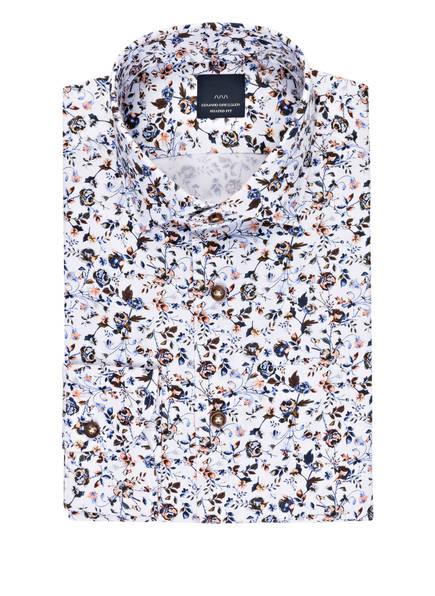 EDUARD DRESSLER Hemd Shaped Fit, Farbe: WEISS/ HELLBLAU/ BRAUN (Bild 1)