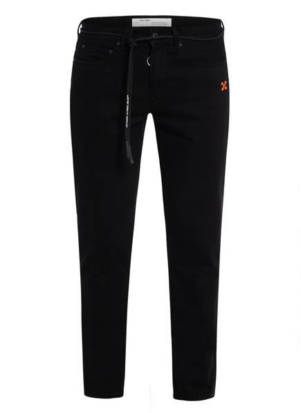 OFF-WHITE Jeans Slim Fit, Farbe: BLACK WHITE (Bild 1)