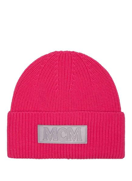 MCM Beanie aus Merinowolle , Farbe: PINK (Bild 1)
