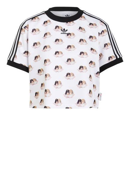 adidas Originals Cropped-Shirt, Farbe: WEISS/ SCHWARZ (Bild 1)