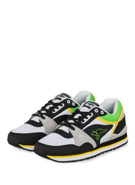 KangaROOS Sneaker SHIELD OG, Farbe: WEISS/ SCHWARZ/ GRÜN (Bild 1)