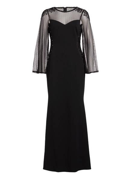 ADRIANNA PAPELL Abendkleid mit Pailletten- und Zierperlenbesatz, Farbe: SCHWARZ (Bild 1)
