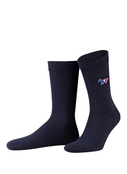 MAISON KITSUNÉ Socken, Farbe: NAVY (Bild 1)