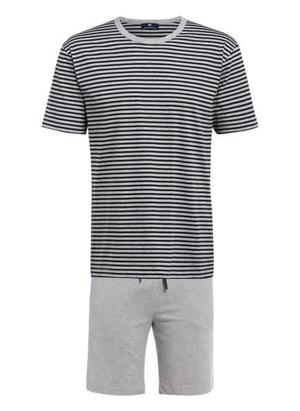 STROKESMAN'S Shorty-Schlafanzug, Farbe: HELLGRAU/ DUNKELBLAU (Bild 1)
