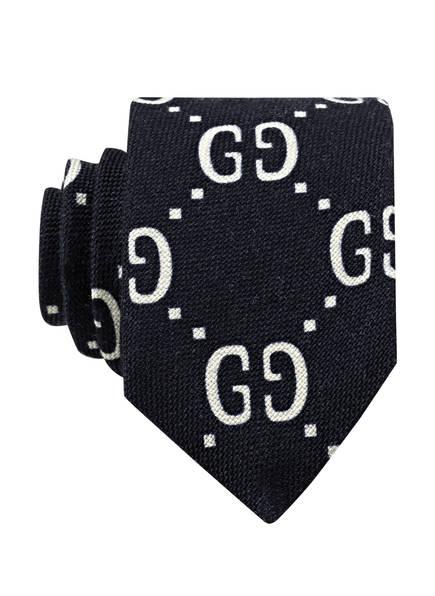 GUCCI Krawatte, Farbe: DUNKELBLAU/ WEISS (Bild 1)