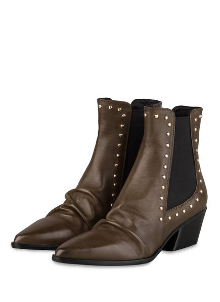 ELVIO ZANON Chelsea-Boots, Farbe: DUNKELGRÜN (Bild 1)