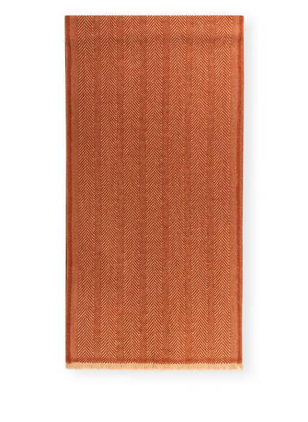 Ermenegildo Zegna Schal mit Cashmere-Anteil , Farbe: DUNKELORANGE/ BEIGE (Bild 1)