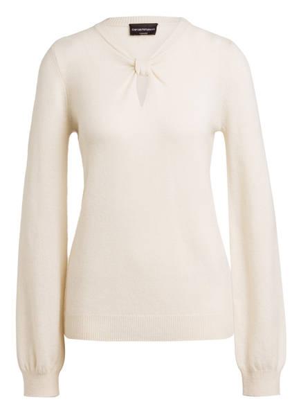 EMPORIO ARMANI Cashmere-Pullover, Farbe: ECRU (Bild 1)