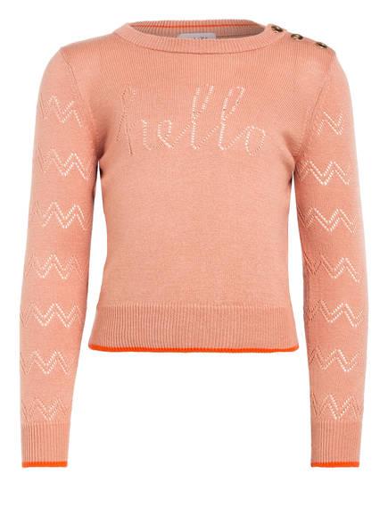 NOA NOA miniature Pullover, Farbe: HELLORANGE (Bild 1)