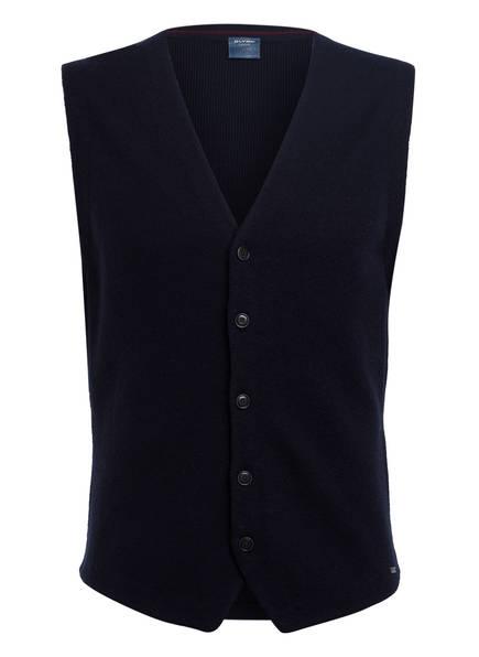 OLYMP Strickoberteile & Pullover | Olymp Strickweste blau