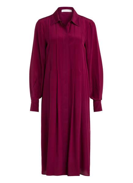 SEE BY CHLOÉ Hemdblusenkleid aus Seide, Farbe: DUNKELLILA (Bild 1)
