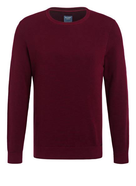 OLYMP Pullover, Farbe: DUNKELROT/ SCHWARZ (Bild 1)